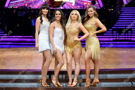 Emma Barton, Alex Scott, Saffron Barker and Catherine Tyldesley