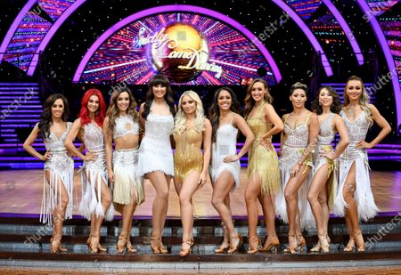 Stock Image of Alex Scott, Dianne Buswell, Amy Dowden, Emma Barton, Saffron Barker, Stacey Dooley, Alex Scott, Catherine Tyldesley, Karen Clifton, Katya Jones and Luba Mushtuk