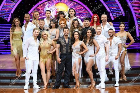 Stock Picture of Catherine Tyldesley and Johannes Radebe, Luba Mushtuk, Jake Leigh, Mike Bushell and Katya Jones, AJ Pritchard and Saffron Barker, Emma Barton and Graziano Di Prima, Robbie Kmetoni, Kelvin Fletcher and Janette Manrara, Amy Dowden and Karim Zeroual, Dianne Buswell, Joshua Keefe, Alex Scott and Neil Jones and Karen Clifton