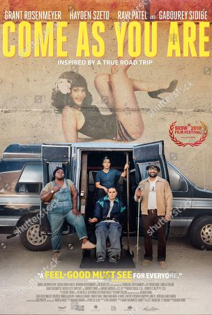 Come As You Are (2019) Poster Art. Gabourey Sidibe as Sam, Hayden Szeto as Matt, Grant Rosenmeyer as Scotty and Ravi Patel as Mo