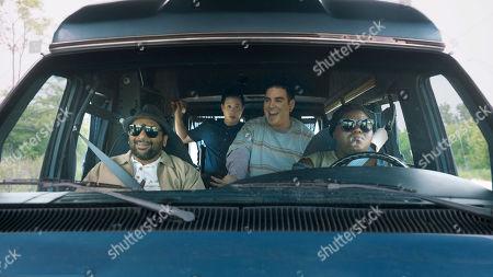 Ravi Patel as Mo, Hayden Szeto as Matt, Grant Rosenmeyer as Scotty and Gabourey Sidibe as Sam