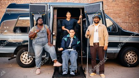 Gabourey Sidibe as Sam, Hayden Szeto as Matt, Grant Rosenmeyer as Scotty and Ravi Patel as Mo