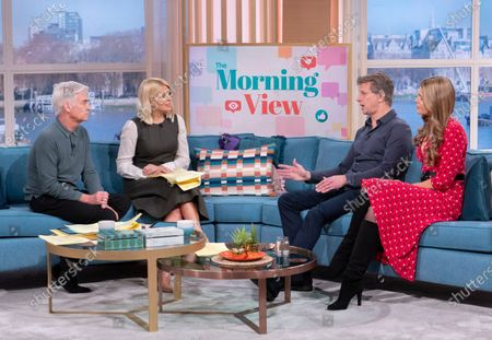 Phillip Schofield and Holly Willoughby with Andrew Castle and Celia Walden