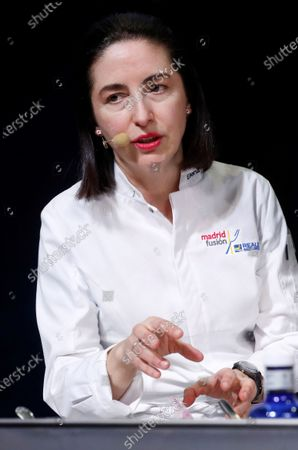 Spanish chef Elena Arzak, from the restaurant Arzak, leads a masterclass on 'Natural enzymes' at the 18th Madrid Fusion gastronomy fair, in Madrid, Spain, 15 January 2020. The gastronomic event runs until 15 January.