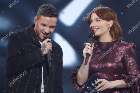 Liam Payne with host Alice Levine