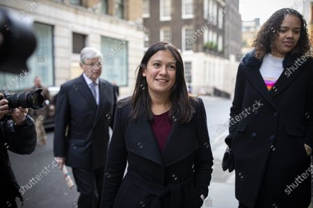 Labour Party leadership candidate Lisa Nandy arrives at RSA House to give a speech on the UK's place in a post-Brexit world.