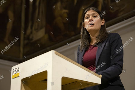 Labour Party leadership candidate Lisa Nandy gives a speech at RSA House on the UK's place in a post-Brexit world