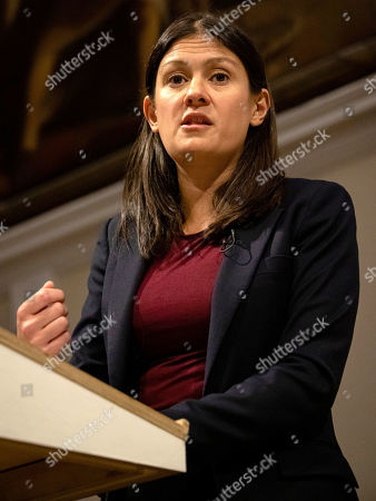 Labour Party leadership candidate Lisa Nandy gives a speech at RSA House on the UKÕs place in a post-Brexit world.