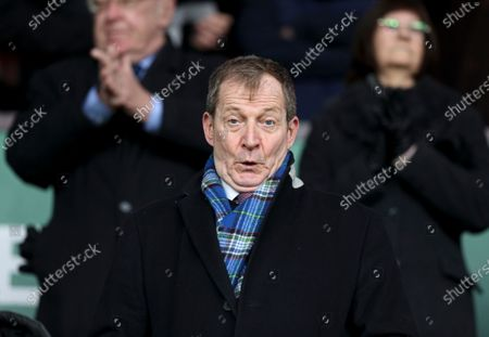 Alastair Campbell pulls a face in the crowd