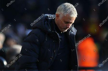 Stock Image of Jose Mourinho head coach of Tottenham Hotspur