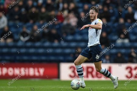 18th January 2020, Deepdale, Preston, England; Sky Bet Championship, Preston North End v Charlton Athletic : Ben Davies (6) of Preston North End in action during the game.Credit: Richard Long/News Images
