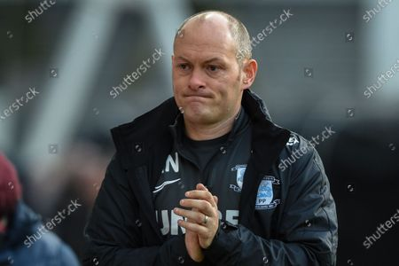 18th January 2020, Deepdale, Preston, England; Sky Bet Championship, Preston North End v Charlton Athletic : Alex Neil manager of Preston North End during the game.Credit: Richard Long/News Images