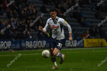 18th January 2020, Deepdale, Preston, England; Sky Bet Championship, Preston North End v Charlton Athletic : David Nugent (35) of Preston North End in action during the game.