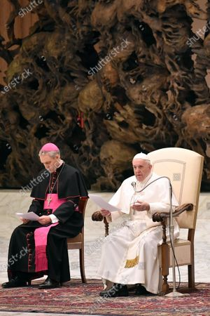 Editorial image of Pope Francis weekly general audience, Vatican City, Italy - 15 Jan 2020