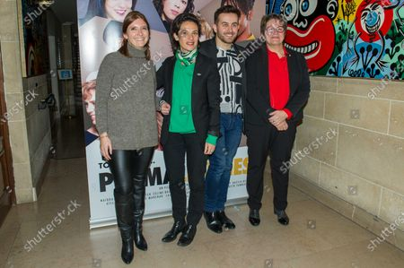 Aurore Berge, Quentin Delcourt and Carole Bureau Bonnard