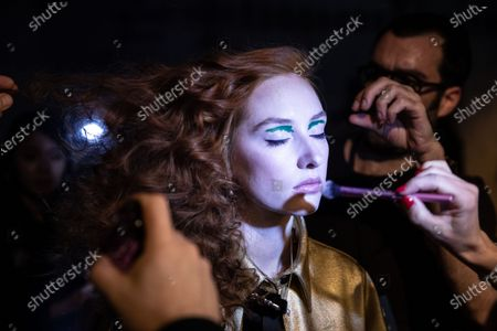 Editorial image of Rebekka Ruetz - backstage - Mercedes-Benz Fashion Week Berlin FW 2020, Germany - 15 Jan 2020
