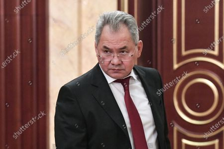 Russian Defense Minister Sergei Shoigu prior to a meeting of Russian President with Cabinet members at the Government's headquarters in Moscow, Russia, 15 January 2020. Russian Prime Minister Dmitry Medvedev announced the resignation of the Russian Government.