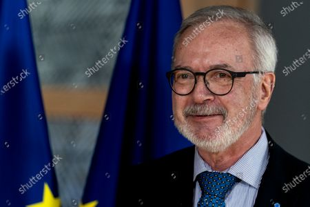 European Investement Bank (EIB) President Werner Hoyer before a meeting with European Council President Charles Michel  at the Europa building in Brussels, Belgium, 15 January 2020.