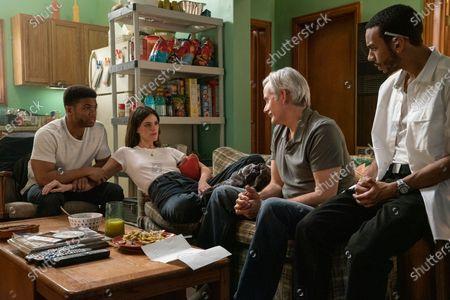Paul James as Samson Hughes, Callie Hernandez as Nellie O'Brien, Campbell Scott as Frank O'Brien and Jahmil French as Dante Mendoza