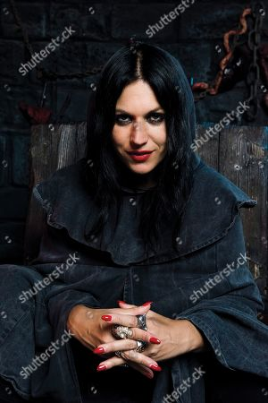 London United Kingdom - September 6: Portrait Of Italian Musician Cristina Scabbia Vocalist With Heavy Metal Group Lacuna Coil Photographed At The London Dungeon Tourist Attraction In London England On September 6