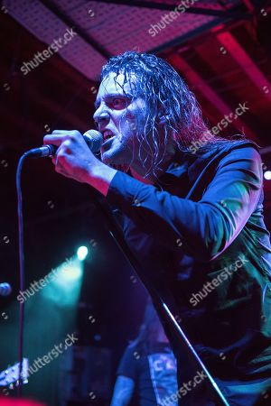 Bristol United Kingdom - September 30: Vocalist George Clarke Of American Heavy Metal Group Deafheaven Performing Live On Stage At The Fleece In Bristol England On September 30