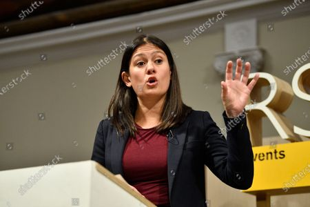 Opposition Labour Party leadership candidate Lisa Nandy delivers a speech about the UK's place in a post-Brexit world in London, Britain, 15 January 2020. A Labour Party leadership election will be held in 2020 after the current leader, Jeremy Corbyn, said that he intended to resign following the party's poor results at the 2019 general election. The result of the leadership election will be announced on 4 April