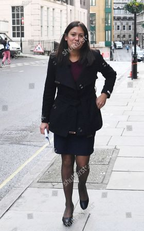 Opposition Labour Party leadership candidate Lisa Nandy arrives ahead of a speech about the UK's place in a post-Brexit world in London, Britain, 15 January 2020. A Labour Party leadership election will be held in 2020 after the current leader, Jeremy Corbyn, said that he intended to resign following the party's poor results at the 2019 general election. The result of the leadership election will be announced on 4 April