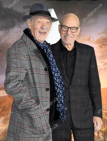Stock-foto afSir Ian McKellen and Sir Patrick Stewart