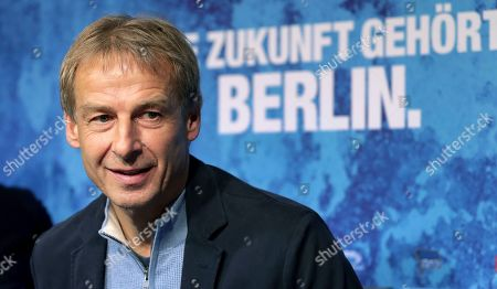 Juergen Klinsmann speaks during a press conference of German Bundesliga soccer team Hertha BSC Berlin in Berlin. Klinsmann needs to show Germany's soccer federation, known as the DFB, a valid coaching license to remain officially recognized as head coach of his new club Hertha Berlin as he prepares for their game on Sunday, Jan. 19, 2020 against defending champion Bayern Munich