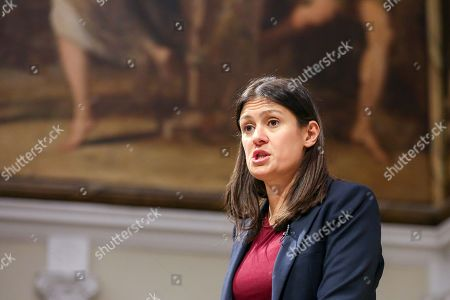 Labour Party leadership candidate Lisa Nandy gives a speech at RSA House on the UK's place in a post-Brexit world.