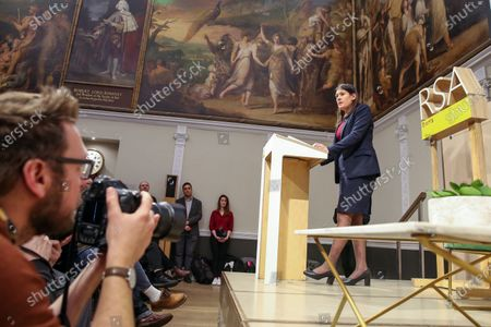 Stock Picture of Labour Party leadership candidate Lisa Nandy gives a speech at RSA House on the UK's place in a post-Brexit world.