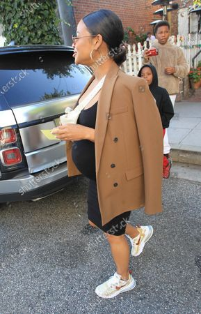 Editorial picture of Christina Milian out and about, Los Angeles, USA - 14 Jan 2020