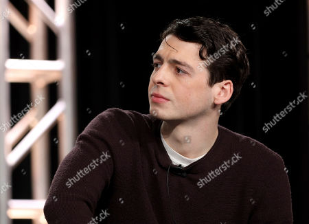 """Anthony Boyle speaks at the """"The Plot Against America"""" panel during the HBO TCA 2020 Winter Press Tour at the Langham Huntington, in Pasadena, Calif"""