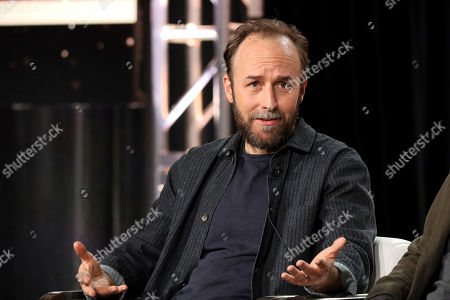 "Derek Cianfrance speaks at the ""I Know This Much is True"" panel during the HBO TCA 2020 Winter Press Tour at the Langham Huntington, in Pasadena, Calif"