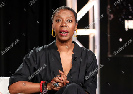 """Noma Dumezweni speaks at the """"The Undoing"""" panel during the HBO TCA 2020 Winter Press Tour at the Langham Huntington, in Pasadena, Calif"""