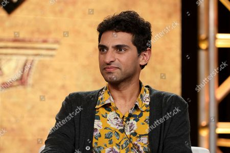 "Karan Soni speaks at the ""Miracle Workers: Dark Ages"" panel during the TBS TCA 2020 Winter Press Tour at the Langham Huntington, in Pasadena, Calif"