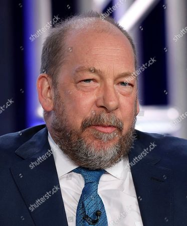 """Bill Camp speaks at the """"Forensic Files II"""" panel during the HLN TCA 2020 Winter Press Tour at the Langham Huntington, in Pasadena, Calif"""