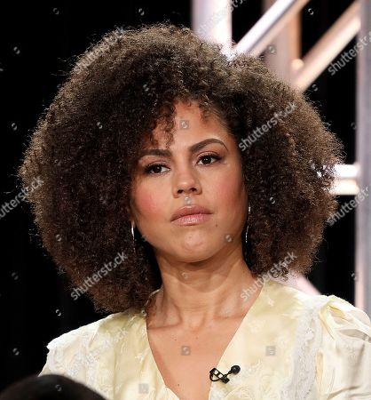 "Stock Picture of Lenora Crichlow speaks at the ""Avenue 5"" panel during the HBO TCA 2020 Winter Press Tour at the Langham Huntington, in Pasadena, Calif"