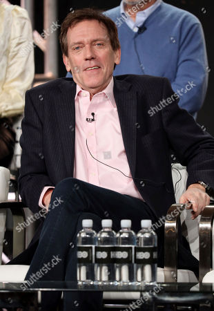 """Hugh Laurie appears at the """"Avenue 5"""" panel during the HBO TCA 2020 Winter Press Tour at the Langham Huntington, in Pasadena, Calif"""