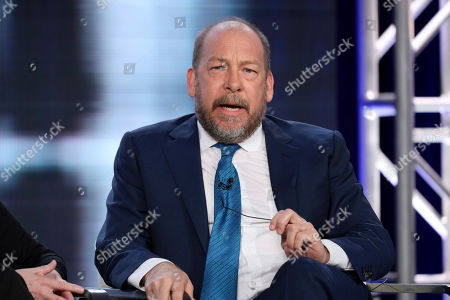 "Bill Camp speaks at the ""Forensic Files II"" panel during the HLN TCA 2020 Winter Press Tour at the Langham Huntington, in Pasadena, Calif"