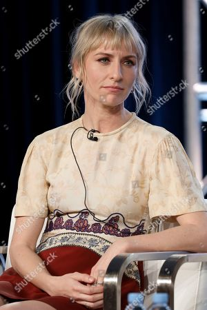 """Mickey Sumner appears at the """"Snowpiercer"""" panel during the TNT TCA 2020 Winter Press Tour at the Langham Huntington, in Pasadena, Calif"""