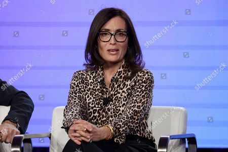 Head of Original Content, HBO MAX Sarah Aubrey speaks at the HBO Max Executive Sessions panel during the HBO TCA 2020 Winter Press Tour at the Langham Huntington, in Pasadena, Calif