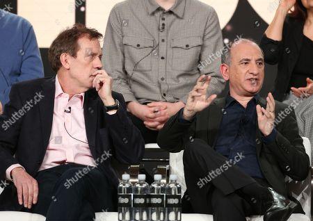 Hugh Laurie and Armando Jannucci