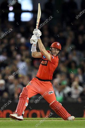 Shaun Marsh of the Renegades hits the ball