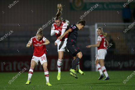 Jill Roord of Arsenal and Fara Williams of Reading during Arsenal Women vs Reading FC Women, FA Women's Continental League Cup Football at Meadow Park on 15th January 2020