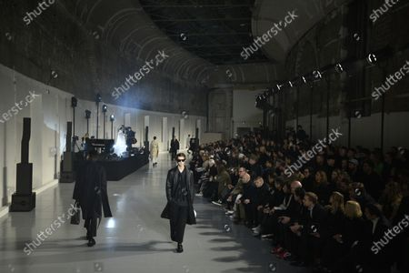 Models present creations from the Fall/ Winter 2020/2021 Ready to Wear collection by Italian designer Pierpaolo Piccioli for Valentino fashion house during the Paris Fashion Week, in Paris, France, 15 January 2020. The presentation of the men's collections runs from 14 to 19 January.