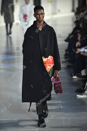 A model presents a creation from the Fall/ Winter 2020/2021 Ready to Wear collection by Italian designer Pierpaolo Piccioli for Valentino fashion house during the Paris Fashion Week, in Paris, France, 15 January 2020. The presentation of the men's collections runs from 14 to 19 January.