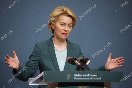 Editorial image of EU Commission President Ursula von der Leyen meets Irish prime minister An Taoiseach Leo Varadkar in Dublin, Ireland - 15 Jan 2020