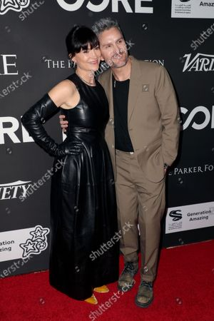 Rosetta Getty and Balthazar Getty