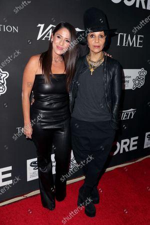 Soleil Moon Frye and Linda Perry